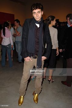 Hedi Slimane attends The Opening Reception of Richard Prince: Check Paintings at Gagosian Gallery on February 24, 2005 in Beverly Hills, California.