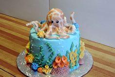 Aquarium Octopus Cake