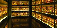 The Scotch Whiskey Experience in the Old Town, Edinburgh, Scotland. This has the largest whisky collection in the world, according to the Guinness Book of Records.