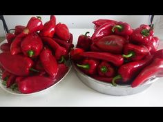 🌶️KAPYA BİBER İLE KİLO KİLO YAPİYORUM YEMELERE DOYAMİYORUZ🤤ŞİMDİ TAM ZAMANİ , BAYILACAKSINIZ 🤚 - YouTube Stuffed Peppers, Homemade, Fruit, Vegetables, Food, Youtube, Amigurumi, Red Peppers, Home Made