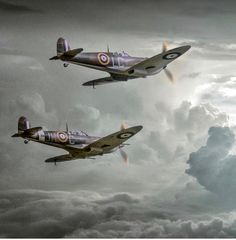 """""""Coming Home"""" photographed at photoshopped into a stock background image. Around 4 hours editing time. Ww2 Aircraft, Fighter Aircraft, Military Aircraft, Fighter Jets, Supermarine Spitfire, Ww2 Spitfire, Aircraft Painting, Airplane Art, Ww2 Planes"""