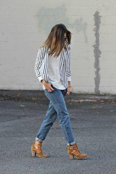 White And Blue Stripe Blazer