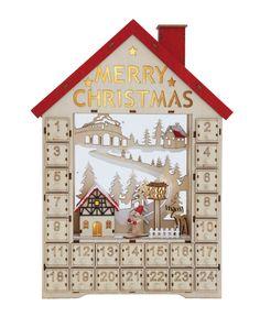 Christmas Wood, Country Christmas, Merry Christmas, Christmas Crafts, Christmas Stuff, Christmas Trees, Xmas, Wooden House Advent Calendar, Christmas Calendar