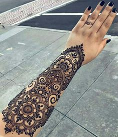 Explore latest Mehndi Designs images in 2019 on Happy Shappy. Mehendi design is also known as the heena design or henna patterns worldwide. We are here with the best mehndi designs images from worldwide. Henna Designs Arm, Indian Henna Designs, Arabic Mehndi Designs, Mehndi Design Images, Best Mehndi Designs, Mehndi Designs For Hands, Bridal Mehndi Designs, Wedding Designs, Henna Tattoo Hand