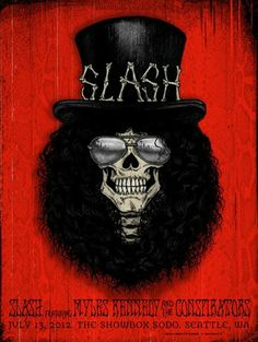 Jon Smith Slash at the Showbox Seattle Poster On Sale Slash Guns N Roses, Guns And Roses, Omg Posters, Band Posters, Sweet Child O'mine, Roses Quotes, Roses Tumblr, Festival Jazz, Rock Legends