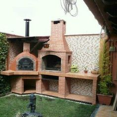 Ideas Backyard Bbq Ideas Landscaping Retaining Walls For 2019 Outdoor Oven, Outdoor Cooking, Backyard Bbq, Backyard Landscaping, Backyard Ideas, Garden Ideas, Parrilla Exterior, Brick Bbq, Outdoor Projects