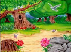 dibujos coloreados de paisajes infantiles - Imagenes y dibujos ...