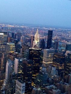 High above NYC - Empire State Building, 86 floors up!