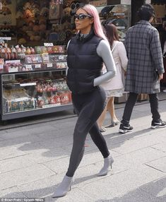 Making a statement: Kim Kardashian was spotted enjoying a bit of shopping while sporting c...