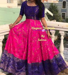 Indian Gowns Dresses, Indian Fashion Dresses, Indian Designer Outfits, Frock Fashion, Fasion, Kalamkari Dresses, Ikkat Dresses, Long Gown Dress, The Dress