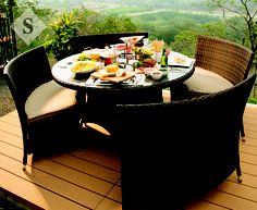 #hogares #garden #deck #view Hogares By SIMAN http://www.siman.com