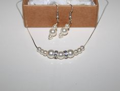 SALE 0 Swarovski Ivory Pearl Earring and by JewelryPISCES