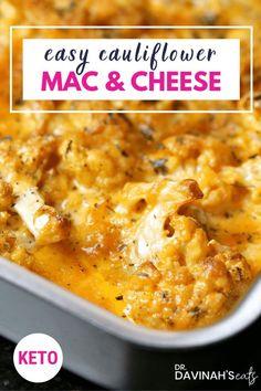 Keto Cauliflower Mac and