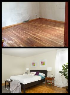 Before and After - Bedroom Real Estate Photography, Beautiful Space, Staging, Bedroom, Inspiration, Accessories, Furniture, Ideas, Home Decor