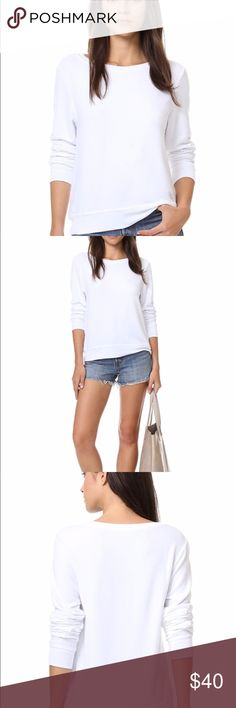 Wildfox White Label Clean White Sweatshirt size S Wildfox White Label Clean white crewneck sweatshirt in a size small. Gently used; good condition. Whole fabric experienced light pilling. Let me know if you have any questions! Wildfox Sweaters Crew & Scoop Necks