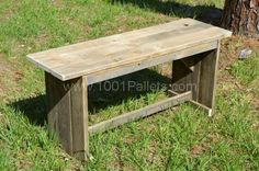 Rustic Benches From Pallets