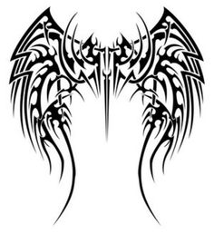 40 Best Tribal Angel Tattoos On Back Images Wing Tattoos On Back
