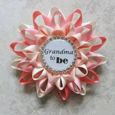 Grandma to Be Pin Personalized Baby Shower Corsage New Grandma Corsage Aunt to Be Gift Great Grandma to Be Corsage Daddy to Be Sister