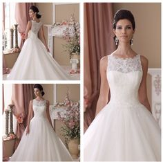illusion net wedding dresses   lace, tulle and sequin over satin ball gown wedding dress, illusion ...