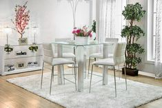 5 PC Furniture of America Richfield II Collection Counter Height Dining Table Set