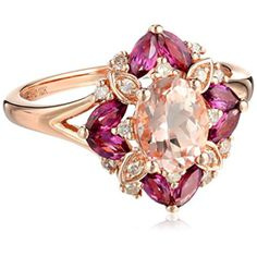 Latest Fashion Trends: Pink Gold Morganite, Rhodolite and Diamond H-I Color, Clarity) Cushion Ring, Size 7 Elegant Wedding Rings, Wedding Rings For Women, Pink Diamond Engagement Ring, Agate Jewelry, Jewellery, Cushion Ring, Fantasy Jewelry, Jewelry Trends, Jewelry Ideas