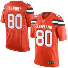 237837af2 Nike Cleveland Browns  80 Jarvis Landry Orange Alternate Men s Stitched NFL  Elite Jersey John Elway