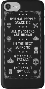 NORMAL PEOPLE SCARE ME iPhone 7 Cases