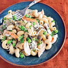 easy mushroom chicken cream pasta: 30-minute meal