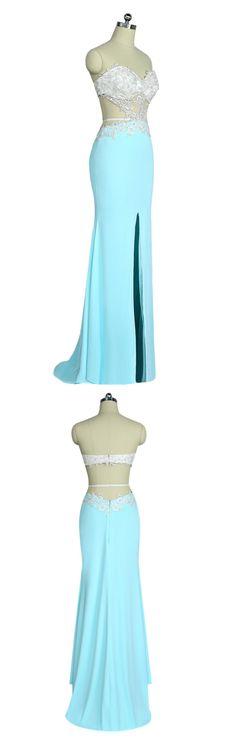 Prom Dresses, Mermaid Sweetheart Appliques Lace Slit Open #prom #promdress #dress #eveningdress #evening #fashion #love #shopping #art #dress #women #mermaid #SEXY #SexyGirl #PromDresses