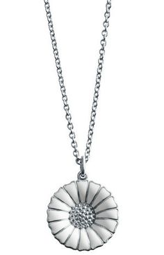 Georg Jensen White Daisy Pendant In Sterling Silver Metal Jewelry, Charm Jewelry, Anchor Chain, Ladies Gents, Thomas Sabo, Diamond Are A Girls Best Friend, White Enamel, Sterling Silver Chains, Pendants
