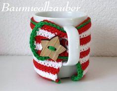KC19 Weihnachts Tassenwärmer von Baumwollzauber auf DaWanda.com