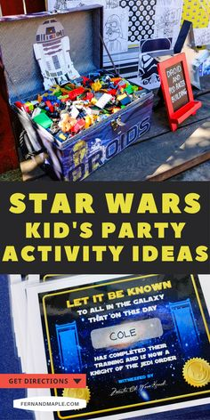 These Star Wars themed party activity ideas provide hours of pure entertainment for kids of all ages, and are perfect for Star Wars themed birthday parties, May the 4th parties, or movie watch parties! Get details now at fernandmaple.com!