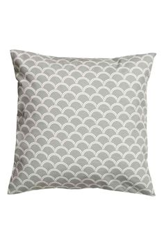 Cotton cushion cover: CONSCIOUS. Cushion cover in an  cotton weave with a print pattern and concealed zip.