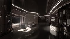 Cyberpunk, Future, Futuristic Interior, Taurus IV - Meeting Room by =Siamon89 on deviantART