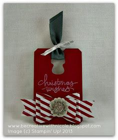 Be Creative with Nicole: A Christmas Tag for Try Stampin' On Tuesday