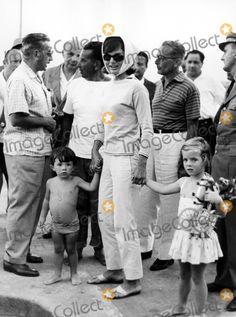 Jackie and Caroline Kennedy with Anthony Radziwill