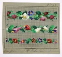 Antique Berlin Woolwork TWO hand-painted chart century from Berlin Paint Charts, Two Hands, 19th Century, Needlework, Berlin, Arms, Cross Stitch, Victorian, Kids Rugs