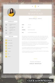 "Our ""Holborn"" CV Template is a professional Résumé / CV that comes with a 1 & 2 page template and matching cover letter in both and US Letter sizes. This pack also includes an icon pack and… Cover Letter Design, Cover Letter For Resume, Cover Letter Template, Letter Templates, Resume Design Template, Cv Template, Creative Resume Templates, Design Templates, Cv Advice"
