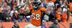 Broncos star blames mozzarella sticks for illness. (AP)