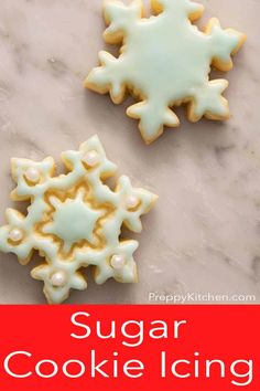 How to make the easiest Sugar Cookie Icing that's both delicious and easy to use! Use this recipe from Preppy Kitchen to decorate your buttery and delicious sugar cookies for any occasion whether it's Christmas, Thanksgiving or just to have some baking fun! #sugarcookieicing #besticing #bestsugarcookieicing Best Sugar Cookie Recipe, Sugar Cookie Icing, Iced Sugar Cookies, Best Christmas Recipes, Holiday Recipes, Christmas Goodies, Christmas Baking, Cake Decorating Tips, Cookie Decorating