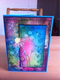 ARTY INKLINGS Class sample using JOFY stamps and Distress inks