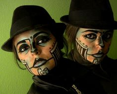 Rooster Teeth · Two stills from my Steam Powered Giraffe (Rabbit) inspired makeup. Enjoy.