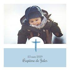 Mon Baptême Jour Avec Personnalisé Date fleurs bleu bébé-Gilet par BWW Pri...