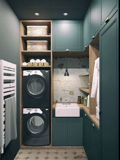 Do you want make small laundry room look like functional for home and apartement? Laundry rooms are often overlooked because you work too much at home and apartement. Here our team gave 30 Laundry Room Design Ideas. Hope you are inspired & enjoy it. Room Design, House, Laundry Mud Room, Home, Small Room Design, Tiny Laundry Rooms, House Interior, Interior Design Living Room, Bathroom Design