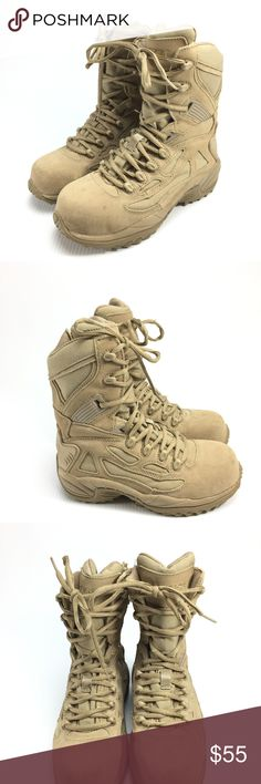 Converse C8894 composite toe combat boots Men / Wm Description: Converse desert tan composite toe combat boots Brand: Converse Size/Model: mens 5M womens 7M Condition: Pre-owned - very nice, minimal wear Converse Shoes Boots