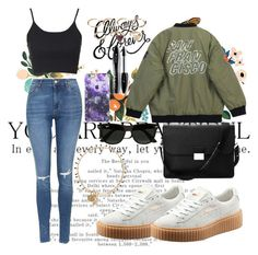 """""""Untitled #55"""" by clodfever on Polyvore featuring Tattly, Puma, Topshop, Chicnova Fashion, Aspinal of London, Ray-Ban, Isabel Marant, Forever 21, Lancôme and women's clothing"""