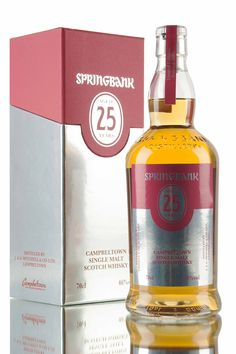 The 2015 release of Springbank 25 year old, matured in a combination of sherry and bourbon casks before being married together in port casks. Bottled at 46% and limited to only 900 bottles worldwide.