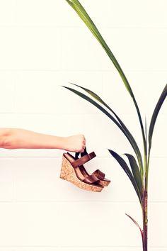 Sandalias de suela de corcho