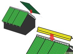How to Install Corrugated Roofing. Corrugated roofing is a great way to top a garden shed, shop, or patio. You only need some basic tools and materials. Cut the panels to the length. Pergola With Roof, Covered Pergola, Outdoor Pergola, Patio Roof, Pergola Plans, Pergola Kits, Pergola Ideas, Pergola Shade, Backyard Pergola