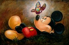 Paintings  of micky mouse